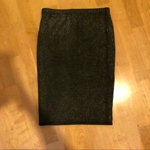 Dresses & Skirts - Gray, sparkle fitted pencil skirt